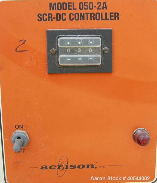 "Used- Acrison volumetric feeder, model 105ZW, 304 stainless steel. 1-3/4"" diameter x 24"" long metering auger, (1) intromitte..."