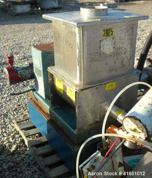 Used- Acrison Weight-Loss Differential Weigh Feeder, model 402-1000-125-BDF-1.5-HH/2, stainless steel. Feed range 1000 pound...