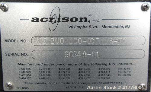 Used- Acrison Weight-Loss Differential Weigh Feeder, Model 402-200-100-BDF-1.5-EE, 304 Stainless Steel. Feed Range 200 pound...