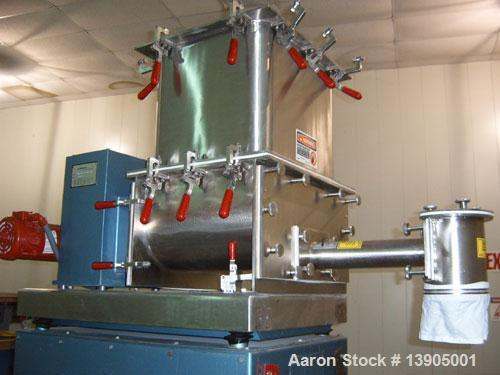 Used-Acrison Model 402-800-250-BDFI.5-G Feeder. Gravimetric feeder with platform type weighing system for continuous or batc...