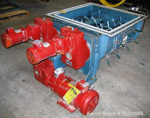 "Used-7"" Acrison Bin Unloader and Screw Feeder, Model 403-30000-4500-BDF-3-1-S.  Stainless steel screw and tube. 7"" diameter ..."