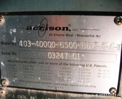 "Used-8"" Acrison Bin Unloader and Screw Feeder, Model 403-40000-6500-BDF-3-1-T.  Stainless steel screw and tube. 8"" diameter ..."