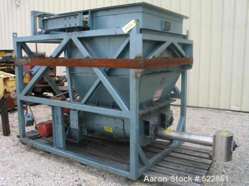 """USED: 4"""" Acrison Loss in Weight Screw Feeder, model 403B-6000/600/2500-BDF3-N. Feeder drive is a Reliance 3 hp, 1750 rpm, 18..."""