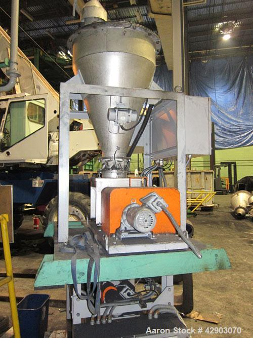 Used-Acrison Volumetric Feeder, Stainless Steel. Includes a twin screw type feeder.