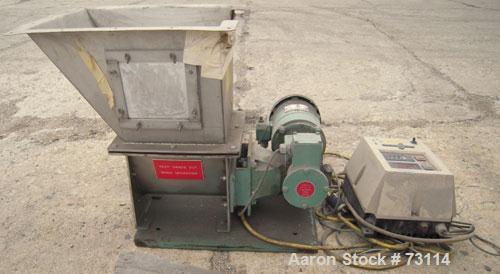 "Used- Acrison Volumetric Feeder, Model 105X-G, 304 Stainless Steel. Trough measures approximately 9"" diameter x 10"" long x 7..."