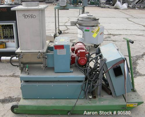 Used: Acrison weight-loss-differential feeder, model A405-175-80-BDF1-F, 304 stainless steel.Bin discharger metering hopper ...