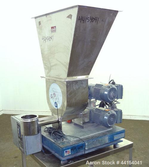 "Used- Brabender Technologie Twin Screw Feeder, Model DDSR40/60, 304 Stainless Steel. (2) Approximate 2"" diameter x 15"" long ..."