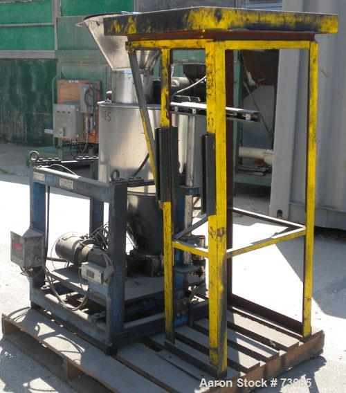 "Used- Control and Metering Volumetric Feeder, Model H32M/DS-52-150L, 304 Stainless Steel. Conditioning hopper 20"" diameter x..."