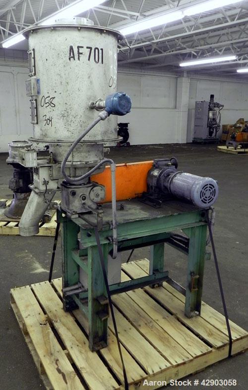 Used- Stainless Steel Funken Powtechs Volumetric Constant Feeder, Model FSR-Q2-S