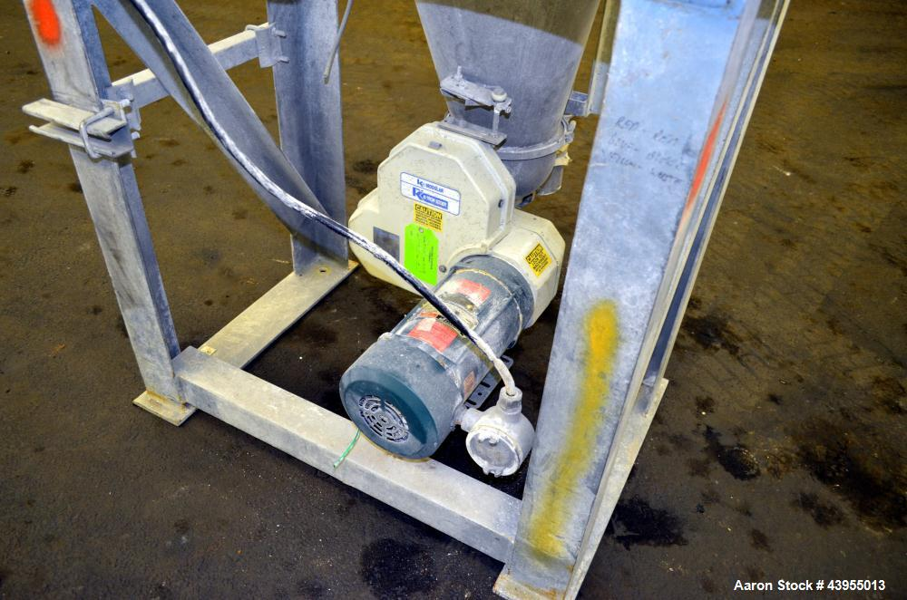 Used- Stainless Steel K-Tron Screw Type Modular Loss In Weight Feeder, Model K2ML362