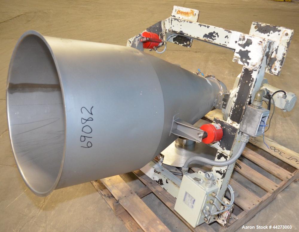 "Used- K-Tron Screw Type Modular Loss In Weight Feeder, Model K2MLS60, Stainless Steel. Approximate 2-1/2"" diameter x 20"" lon..."