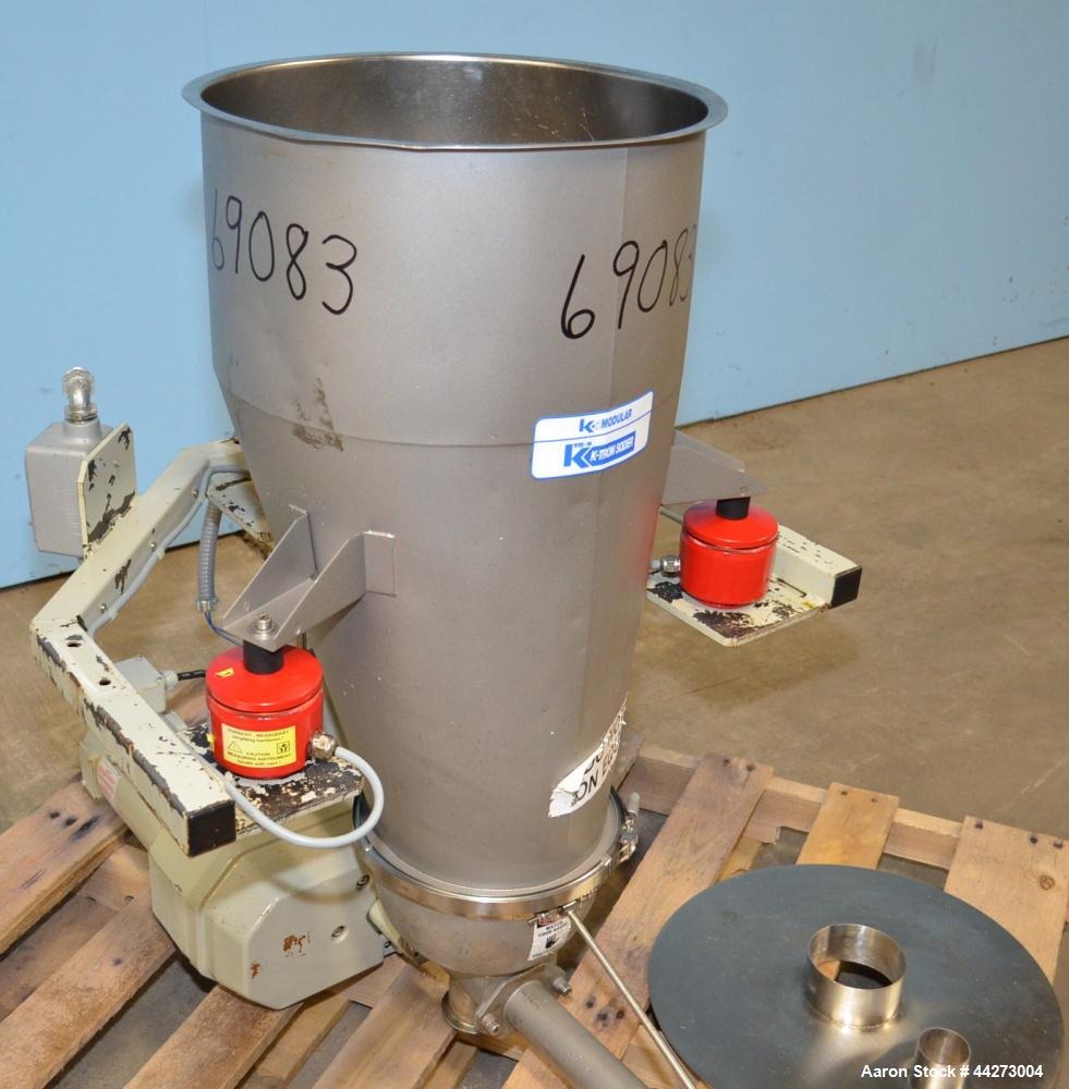"Used- K-Tron Screw Type Modular Loss In Weight Feeder, Model K2MLS60, Stainless Steel. Approximate 1-1/2"" diameter x 20"" lon..."