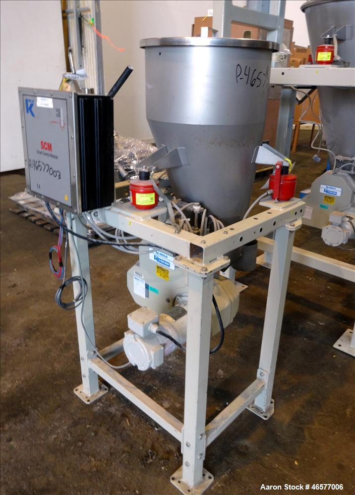Used-Feeder System Consisting of  (1) K-Tron feeder model K2MLS rated for 300 pounds per hour driven by a 0.45 kw, 200 volt,...
