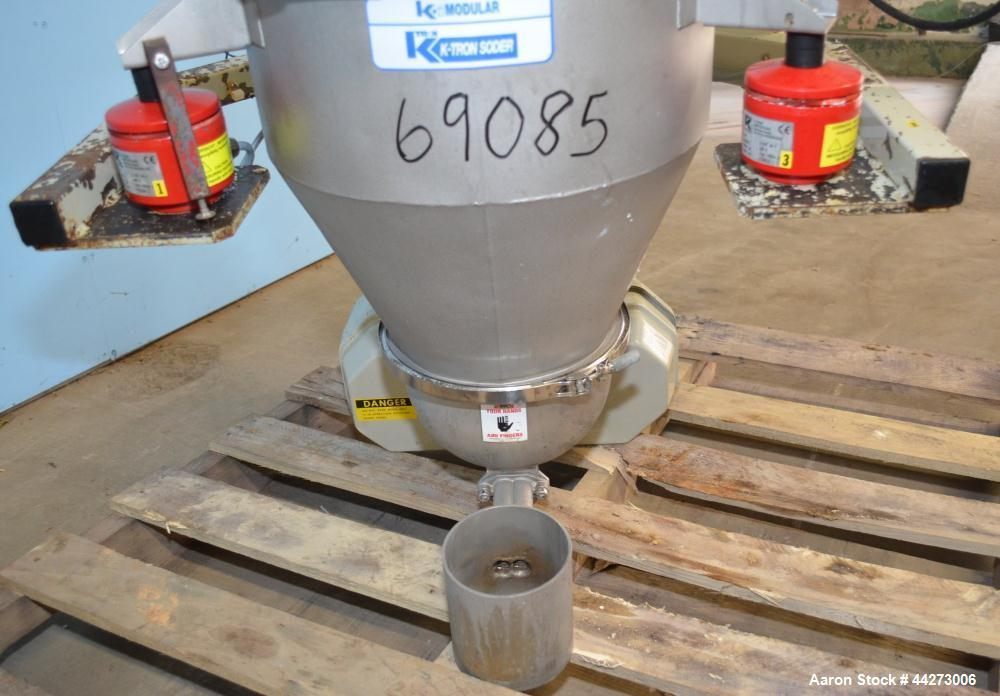 """Used- K-Tron Screw Type Modular Loss In Weight Feeder, Model K2MLT20, Stainless Steel. Approximate 3/4"""" diameter x 10"""" long ..."""