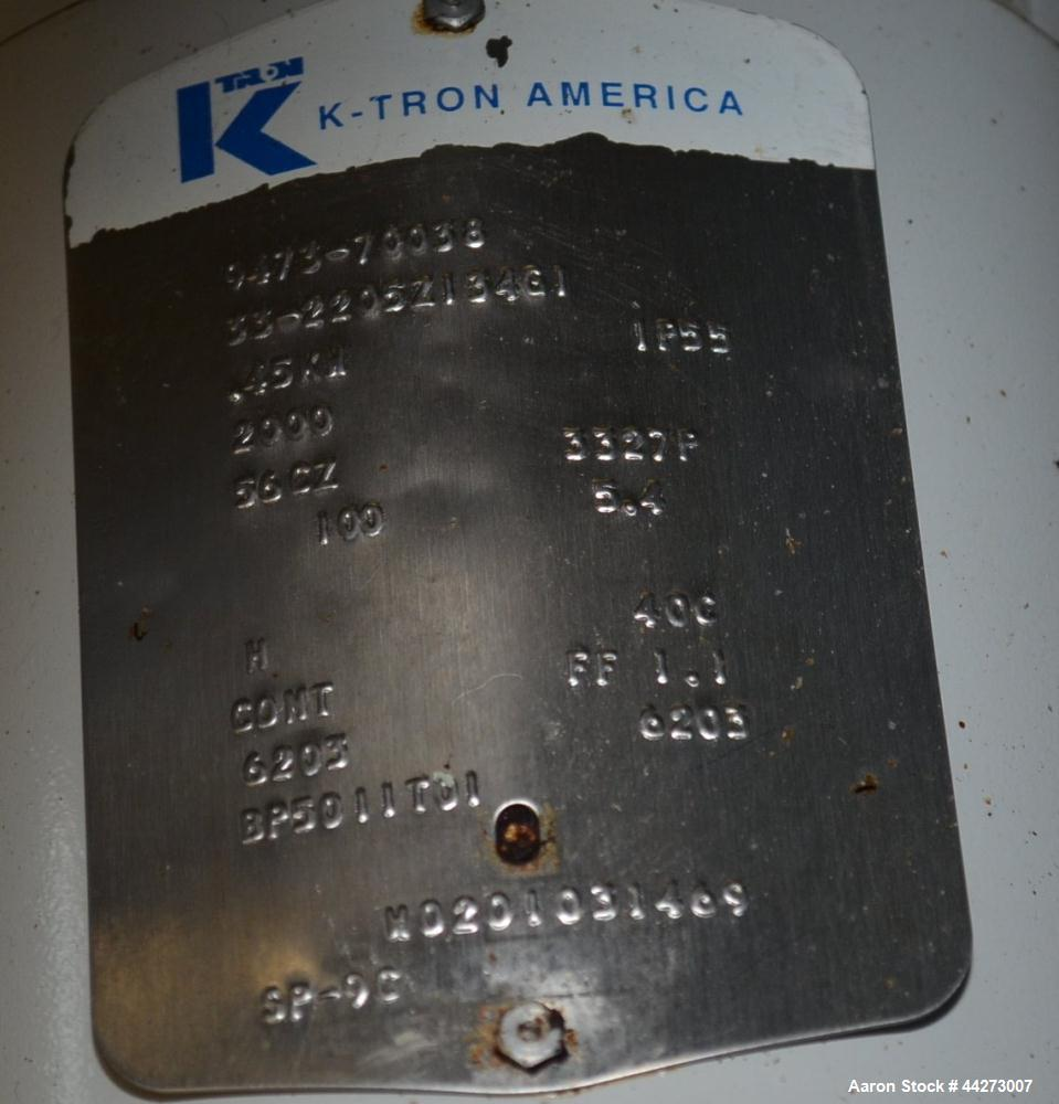 """Used- K-Tron Screw Type Modular Loss In Weight Feeder, Model K2MLT20, Stainless Steel. Approximate 3/4"""" diameter x 25"""" long ..."""