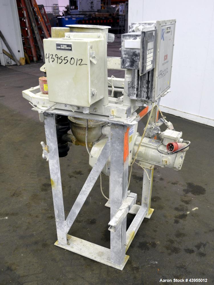 Used- K-Tron Twin Screw Volumetric Feeder, Model K2-MV-T35, 316 Stainless Steel. Twin screw design, driven by a 1/2hp, 90 vo...