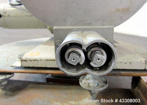"Used- K-Tron Volumetric Twin Screw Feeder, Model T35-1-B-2-32-00-A, 304 Stainless Steel. (2) Approximate 1"" diameter x 12"" l..."