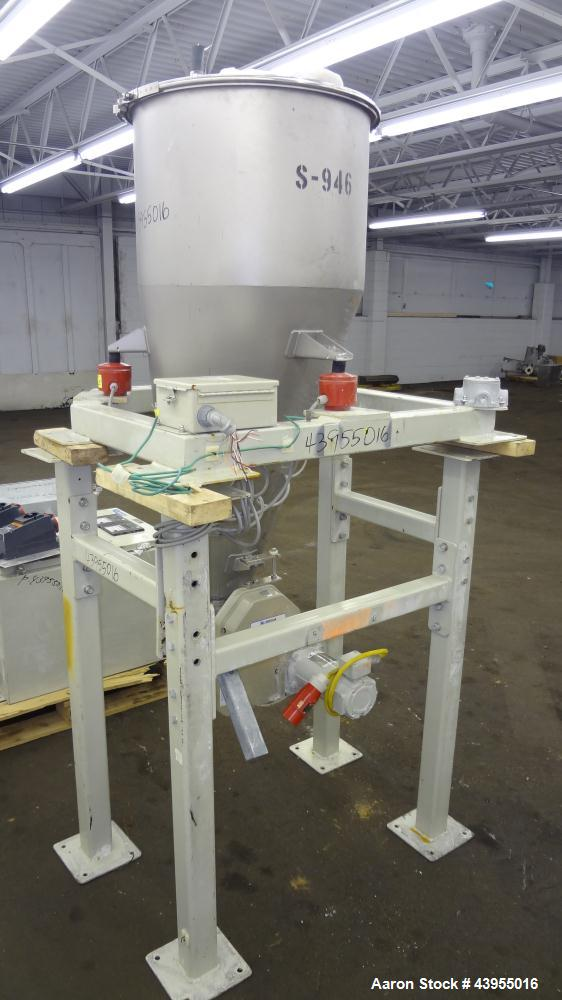 "Used- K-Tron Volumetric Feeding System consisting of: (1) K-Tron Feeder Model K2MLS60, Stainless Steel. Approximate 2"" diame..."