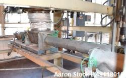 Used- MetalFab Volumetric Screw Feeder, Model DB1-4, 304 Stainless Steel. Approximate maximum feed rate 175 cubic feet per h...