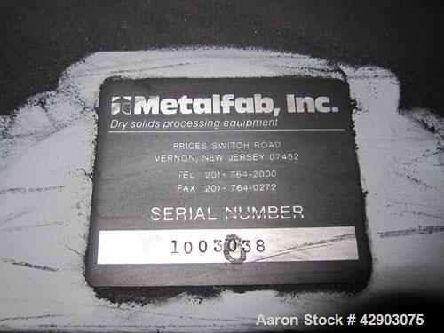 Used-Metalfab Volumetric Feeder.
