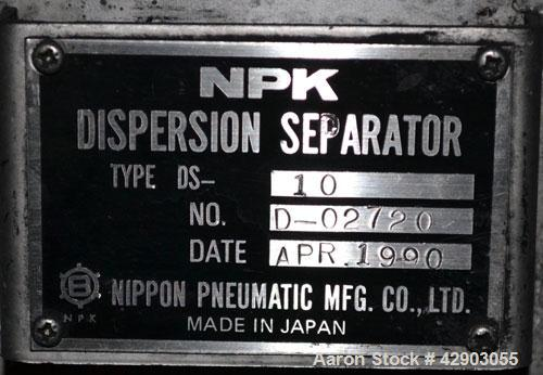 Used-NPK Dispersion Seperator, Model DS-10, Stainless Steel.