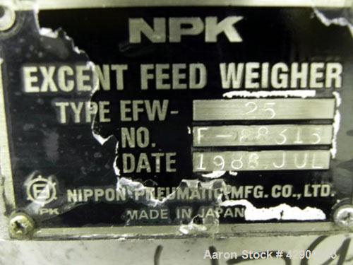 Used- Nippon Pneumatic NPK Excent Weigh Feeder, Model EFW25