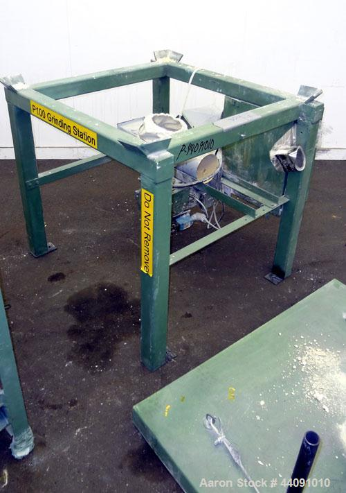 Used- Gayloard Box Dump System, Carbon Steel. Consisting of: (1) Box unloder with holding frame, and top cover, bottom mount...