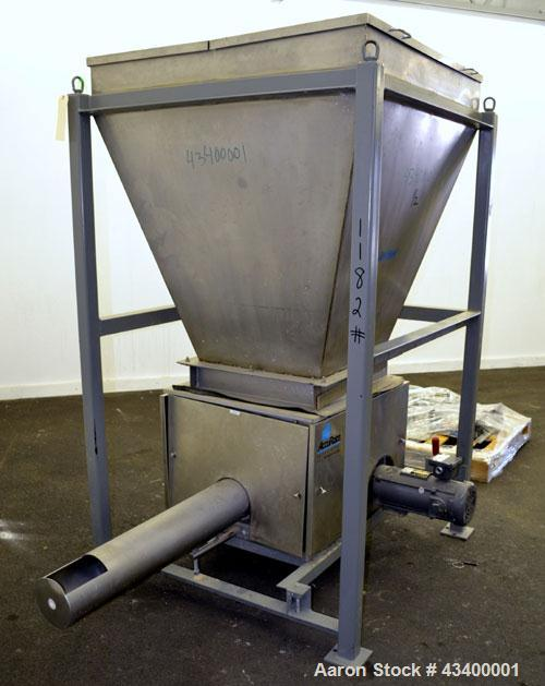 "Used- Schenck Accu-Rate 1200 Series Dry Material Feeder, Model 1205, 304 Stainless Steel. Approximately 6"" diameter x 43-1/2..."