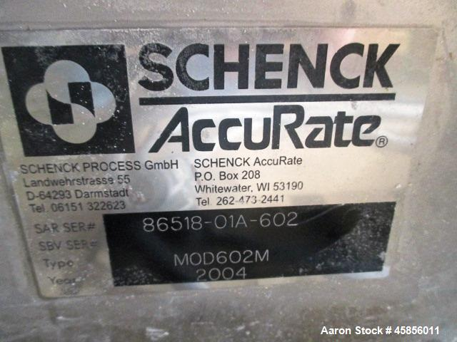 """Used- Schenk Accurate Volumetric Feeder, Type, MOD602M. Stainless steel screw and spout, 2.25"""" diameter x 21"""" long spout wit..."""