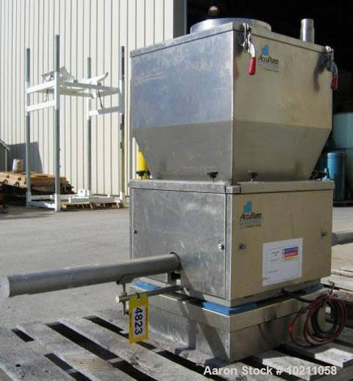 "Used-2"" Diameter Schenck AccuRate Stainless Steel Screw Feeder. Loss-in-weight design. Feeder placed on AccuRate platform sc..."