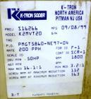 Used- Stainless Steel K-Tron Twin Screw Volumetric Feeder, Model K2-MV-T20