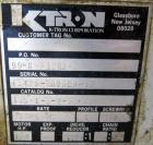 Used- K-Tron Volumetric Twin Screw Feeder, Model T35-1-B-2-32-00-A, 304 Stainless Steel. (2) Approximate 1