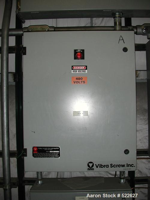 """USED: Vibra Screw loss in weight feeder system. Includes Vibra Screw model CLIW2-500-5C, 2"""" screw, rated 52-1040 lbs/hour, f..."""