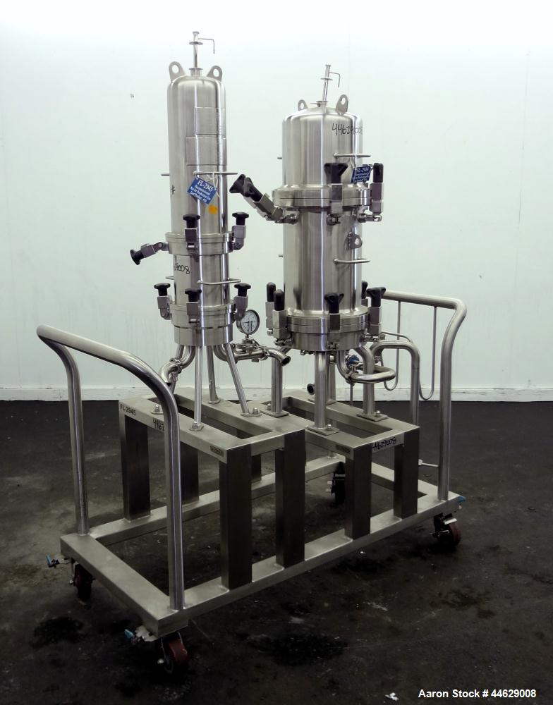 Used- Stainless Steel Allegheny Bradford Opti-Clean Dual Filter System