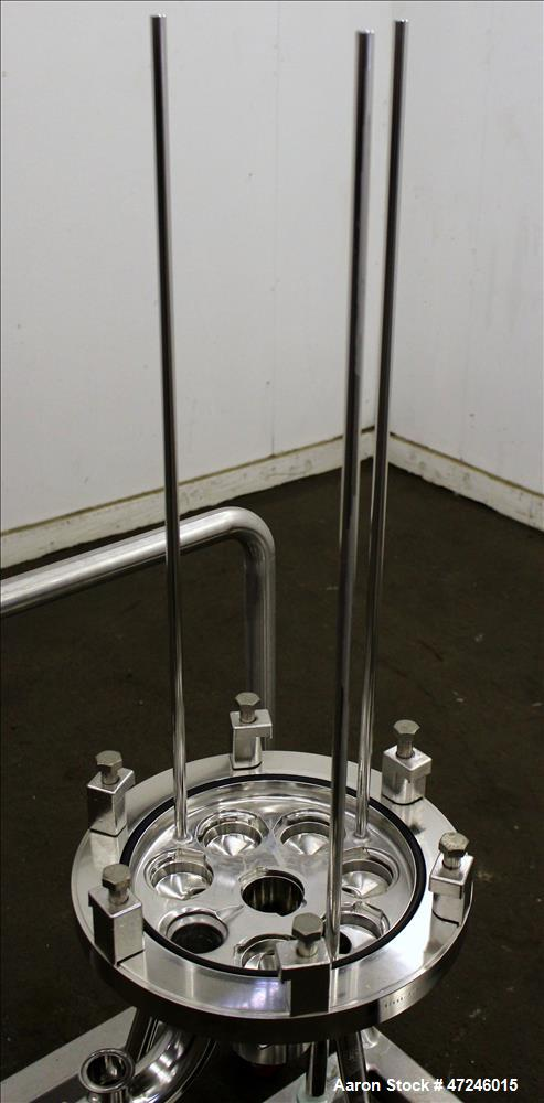 Used- Allegheny Bradford Corp Filter Housing, 316 Stainless Steel, Vertical.