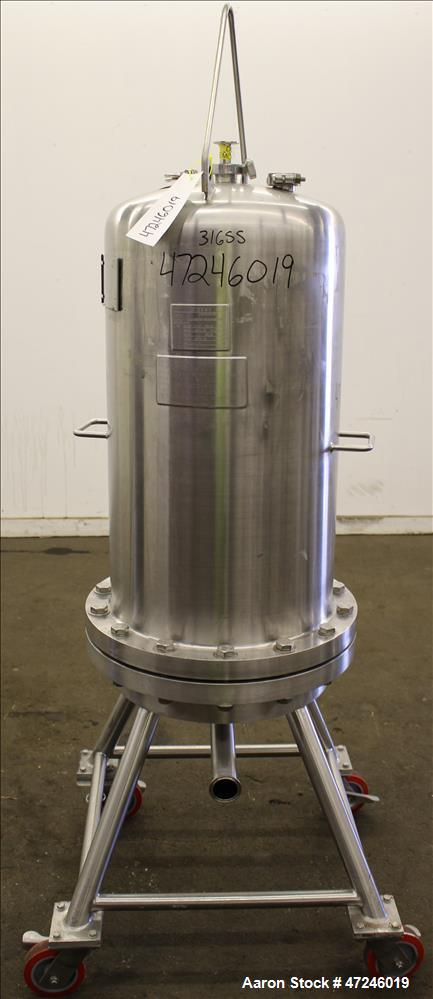 Used- Allegheny Bradford Corp Filter Housing, Volume 140 liters, 316 Stainless S