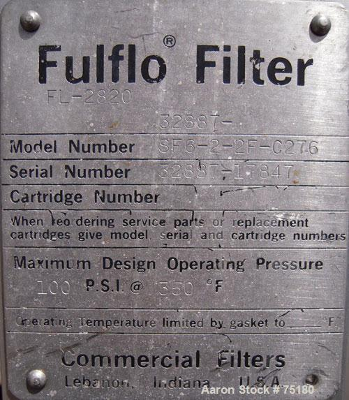 Used- Commercial Filters Fulflo Cartridge Filter, Model SF6-2-2F-C276