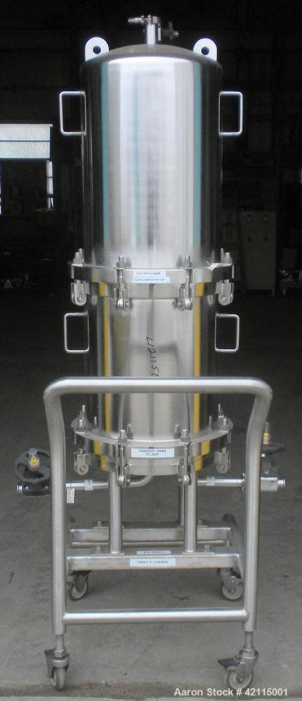 Used- Cuno Cartridge Filter, Model 21ZWB4, 316L stainless steel, vertical. Approximately 280 square feet filter area. 17-3/4...