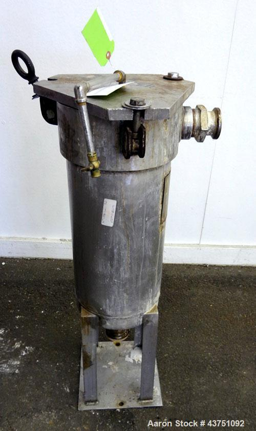 "Used- AMF Cuno Basket Filter, Model 7PC1, 5.8 Gallon Capacity, 316 Stainless Steel, Vertical. Approximately 9"" diameter x 19..."