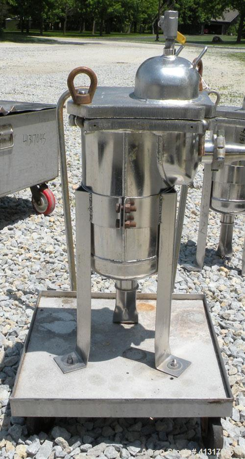 "Used- Filter Specialists Basket Filter, Part Number F.S.P. 40-1-316SS, 316 Stainless Steel. 8"" diameter x 16"" deep. No baske..."