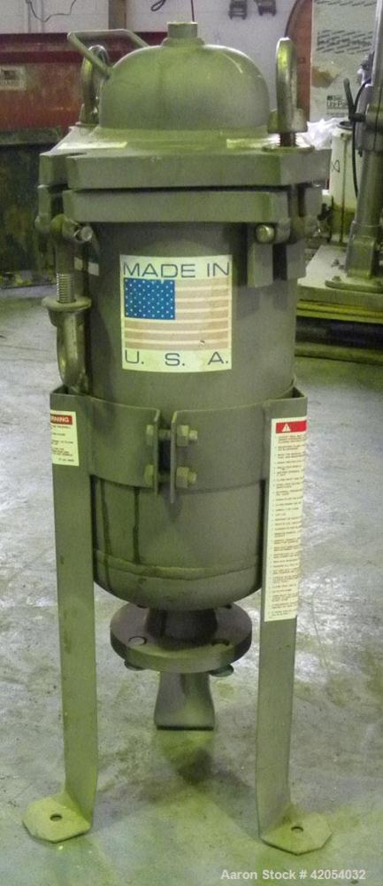 "Used- Filter Specialists Single Bag Filter, Model FSPN-40-2-304SS, 2 square feet filter area, 304 Stainless Steel. 6"" diamet..."