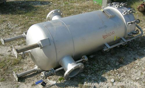 """Used- Filterite Cartridge Filter, model 935563, type 220MSO4-316L-6FOLD-C150, 316L stainless steel. Approximately 24"""" diamet..."""