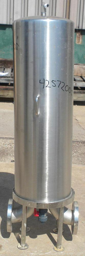 Used- Stainless Steel Gelman Sciences Cartridge Filter, Model HFGJ1Q1B11