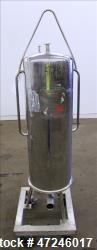 Used- Cuno Filter Housing, Model 12-ZP 3, 316 Stainless Steel, Vertical.