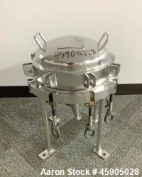 "Used- Pall Trinity Micro Filter, 316L Stainless Steel. 12"" Diameter x 7"" deep. Rated 100 psi Full Vacuum at -20 to 300 degre..."