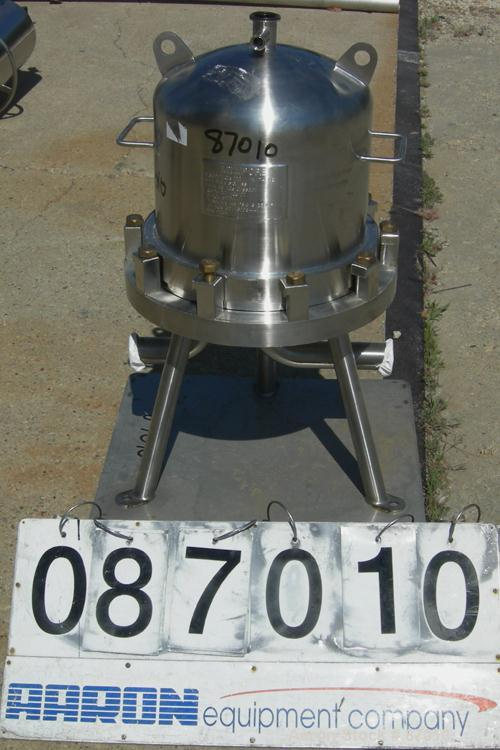 Used- Stainless Steel Millipore Cartridge Filter, Model 12RX1H