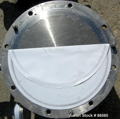 USED- Millipore Sterilizing/Pancake Type Filter, 293 MM Diameter, 304 Stainless Steel. Filter area 518 cubic CM, max 125 PSI...