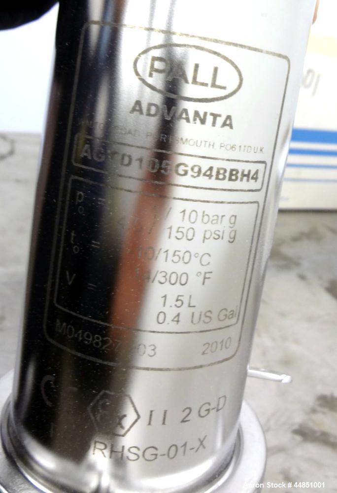 Stainless Steel Pall Advanta AGT Gas Filter Housing