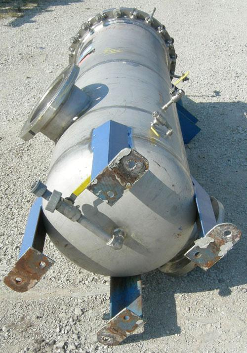 Used- Pall Cartridge Filter Housing, part #P384SG29C2H2, 304 stainless steel. Approximately 18'' diameter x 60'' straight si...