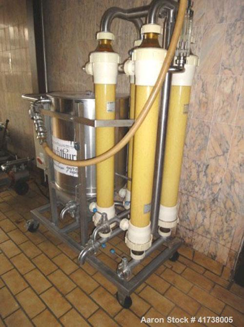 Used-Romicon Cross Flow Cartridge Filter. Stainless steel, 4 cartridges, with control panel, centrifugal pump and preview co...